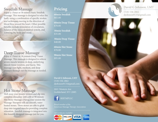 Massage Therapy Brochure, Page 1