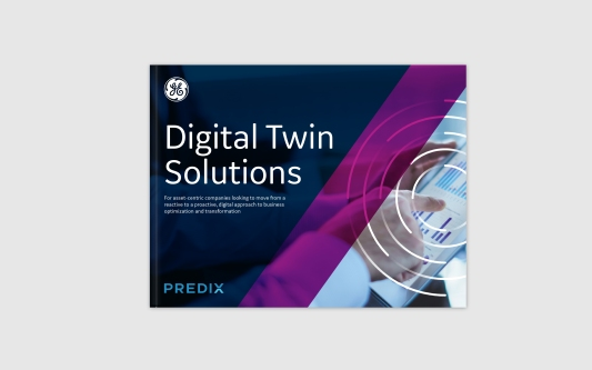A Digital Twin brochure, 16 pages long with quick turn time.